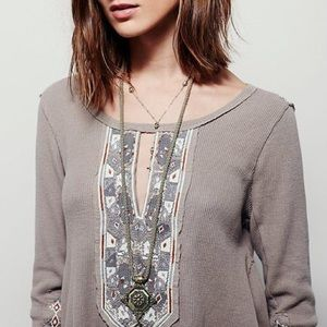 Free People X Marion Embroidered Flare Thermal